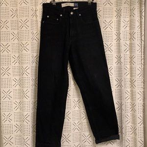 Gap super hi-rise black straight jeans